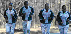 Boston Marathon Runners- from Cameroon