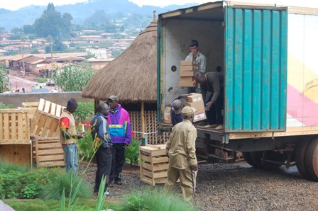 HIC Staff Unloading Supplies