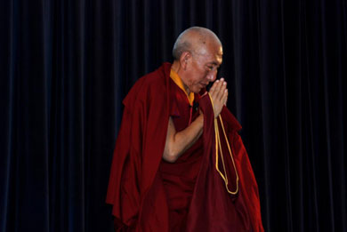 Professor Rinpoche during his visit to the Himalayan Institute in Honesdale, PA