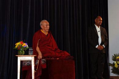 Professor Samdhong Rinpoche and Pandit Tigunait