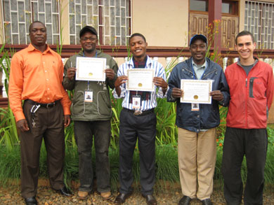 The first graduating class of the New Vision training course.