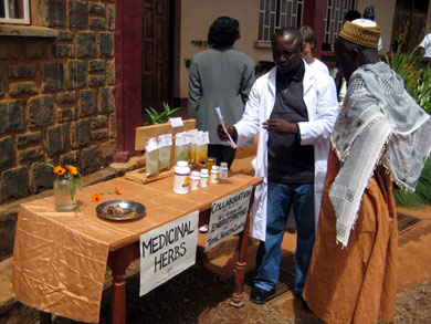 Total Health Center consultant Laisin Wirngo describes how medicinal herbs grown by the School of Energy Farming become products such as tea, honey and ointments, available in the Total Health Center.